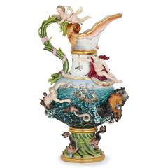 Meissen Porcelain Manufactory 19th Century Meissen Porcelain Water Elemental Ewer - 1913711