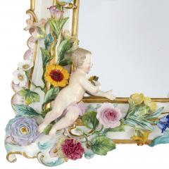 Meissen Porcelain Manufactory Antique Rococo style porcelain mirror by Meissen - 1924886
