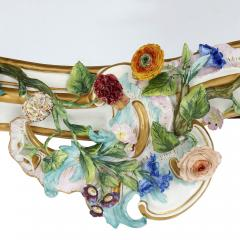 Meissen Porcelain Manufactory Antique Rococo style porcelain mirror by Meissen - 1924887