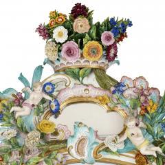 Meissen Porcelain Manufactory Antique Rococo style porcelain mirror by Meissen - 1924888