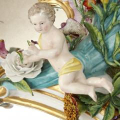 Meissen Porcelain Manufactory Antique Rococo style porcelain mirror by Meissen - 1924889