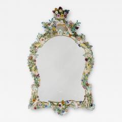 Meissen Porcelain Manufactory Antique Rococo style porcelain mirror by Meissen - 1926920