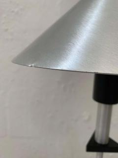 Memphis Group Pair of Postmodern Steel and Black Wood Table Lamps by BE YANG 1980s - 1624398