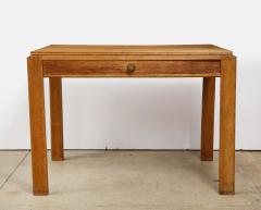 Mercier Chaleyssin Vintage French Oak Table with Drawer signed Mercier Chaleyssin c 1940s - 1224048