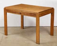 Mercier Chaleyssin Vintage French Oak Table with Drawer signed Mercier Chaleyssin c 1940s - 1224050