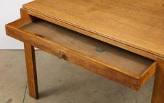 Mercier Chaleyssin Vintage French Oak Table with Drawer signed Mercier Chaleyssin c 1940s - 1224104