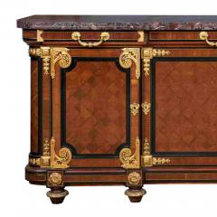 Mercier Fr res Antique Louis XVI Style Mahogany Ormolu and Marble Cabinet - 2003877