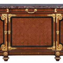Mercier Fr res Antique Louis XVI Style Mahogany Ormolu and Marble Cabinet - 2003878