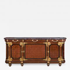 Mercier Fr res Antique Louis XVI Style Mahogany Ormolu and Marble Cabinet - 2010210
