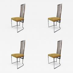 MetalArt 4 Chairs by Angolo Metal Arte Italy 1970 - 416411
