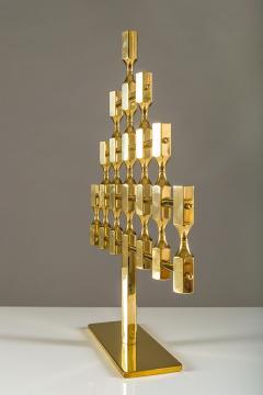 Metallslojden Gusum Large Swedish Candelabra in Brass by Lars Bergsten for Gusum - 833664