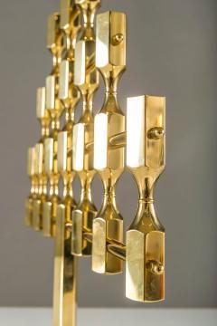 Metallslojden Gusum Large Swedish Candelabra in Brass by Lars Bergsten for Gusum - 833666