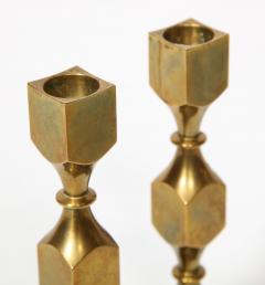 Metallslojden Gusum Pair of Swedish Brass Candlesticks - 2005154