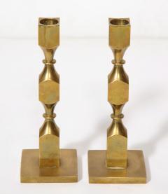 Metallslojden Gusum Pair of Swedish Brass Candlesticks - 2005155