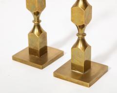 Metallslojden Gusum Pair of Swedish Brass Candlesticks - 2005156