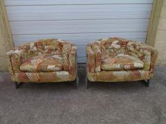 Metropolitan Furniture Pair of Metropolitan Barrel Back Lounge Chairs Mid Century Modern - 1613997