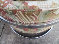 Metropolitan Furniture Pair of Metropolitan Barrel Back Lounge Chairs Mid Century Modern - 1613999