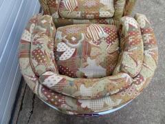 Metropolitan Furniture Pair of Metropolitan Barrel Back Lounge Chairs Mid Century Modern - 1614000