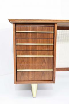 Miller Desk Safe Co Rosewood Midcentury Desk by Miller Desk Safe Company 1930s - 1457801