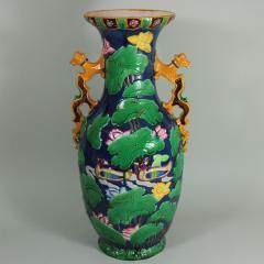Minton Large Minton Victorian Majolica Exotic Indian Vase - 1990683