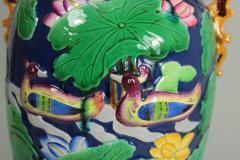 Minton Large Minton Victorian Majolica Exotic Indian Vase - 1990695