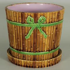 Minton Minton Majolica Bamboo Planter Stand - 1899169