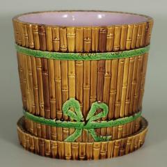 Minton Minton Majolica Bamboo Planter Stand - 1899172