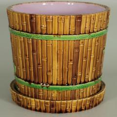 Minton Minton Majolica Bamboo Planter Stand - 1899173