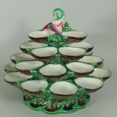 Minton Minton Majolica Four Tiered Oyster Stand - 2003743