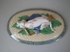Minton Minton Majolica Game Pie Dish with Gun Dog - 1745043