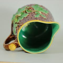 Minton Minton Majolica Oak Jug Pitcher with Snail Handle - 1900405