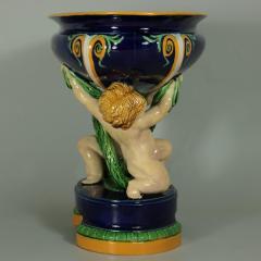 Minton Minton Majolica Putti Figural Bowl - 1958329