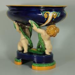 Minton Minton Majolica Putti Figural Bowl - 1958333