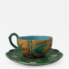 Minton Minton Majolica Teacup and Saucer - 1959963