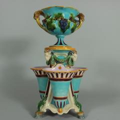 Minton Minton Majolica Triple Flower Holder - 1990954