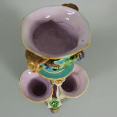 Minton Minton Majolica Triple Flower Holder - 1990955