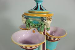 Minton Minton Majolica Triple Flower Holder - 1990957