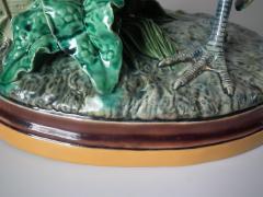 Minton Pair Minton Majolica Hen Rooster Vases by John Henk - 1853311