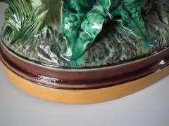 Minton Pair Minton Majolica Hen Rooster Vases by John Henk - 1853312