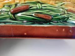 Minton Victorian Minton Majolica Bullrush Cattail Dish - 1959527
