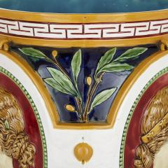 Minton Victorian antique majolica jardini re of the four seasons by Minton - 2073855