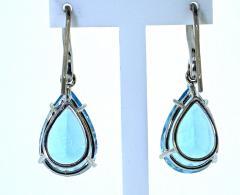 Mish New York Aquamarine and Diamond Earrings - 1139682