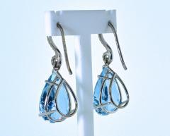 Mish New York Aquamarine and Diamond Earrings - 1139686