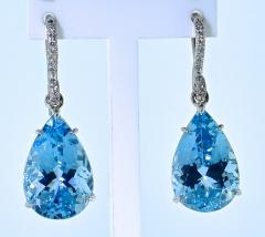 Mish New York Aquamarine and Diamond Earrings - 1139687