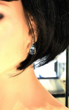 Mish New York Aquamarine and Diamond Earrings - 1139699