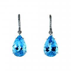 Mish New York Aquamarine and Diamond Earrings - 1140653