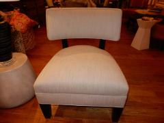 Mitchell Gold Pair of Midcentury Mitchell Gold Side Chairs Slipper Chairs - 1881542