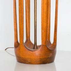 Modeline Airy Sculptural Walnut Wood Brass Lamp by MODELINE 1960s USA - 1542754