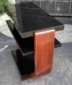 Modernage Furniture Company Vintage Art Deco Macassar Black Lacquer Side Table by Modernage Furniture Co - 2126589