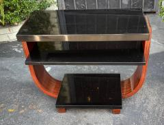 Modernage Furniture Company Vintage Art Deco Macassar Black Lacquer Side Table by Modernage Furniture Co - 2126591